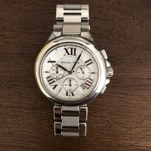Micheal Kors Bradshaw silver women's watch